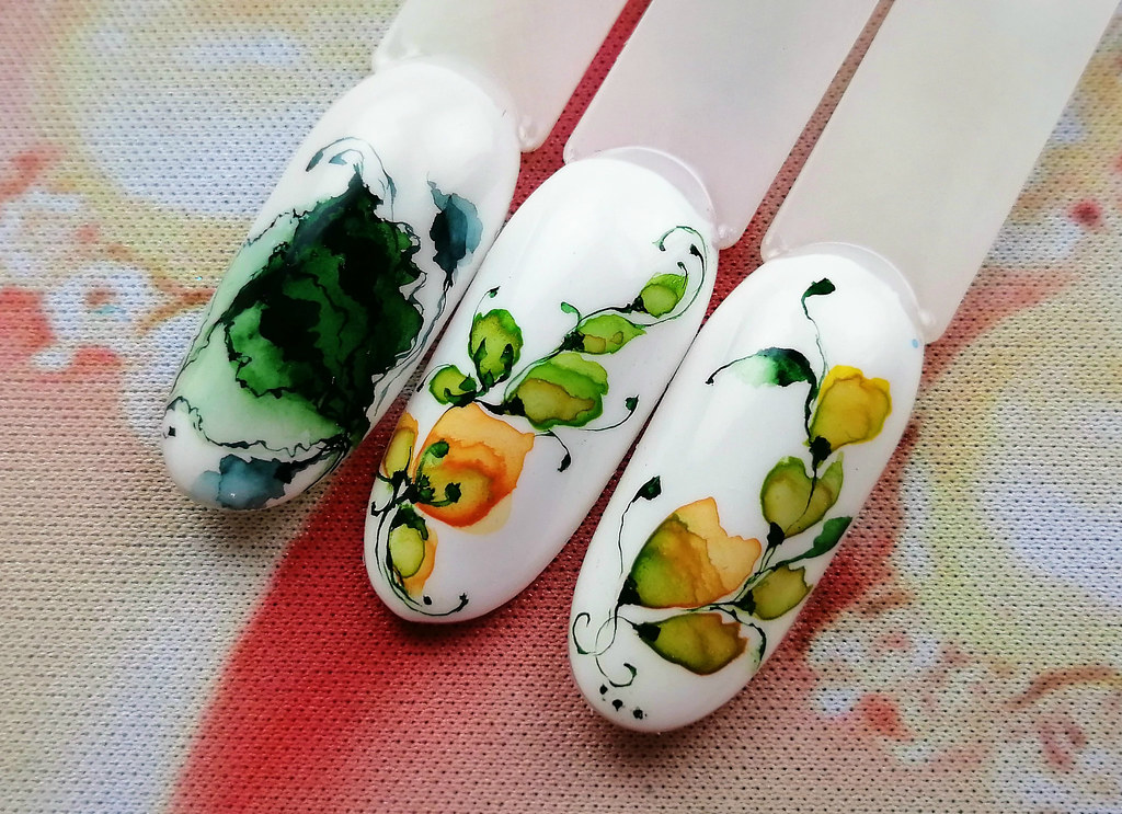 watercolor leafs