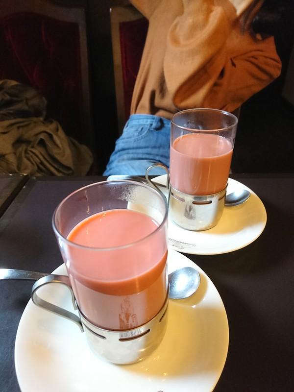 珈琲艇キャビン:ブルーベリー入りというなかなか不思議な味をしたコーヒーを飲みました。