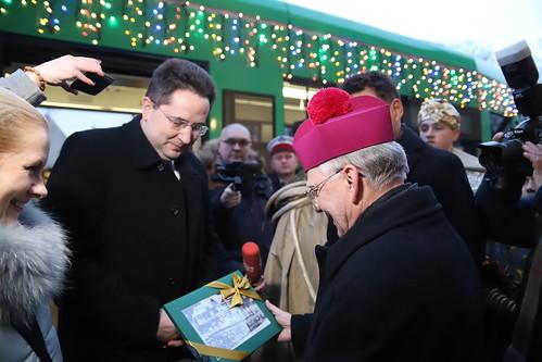 Świąteczny tramwaj z Arcybiskupem | Abp Marek Jędraszewski, 7.01.2019