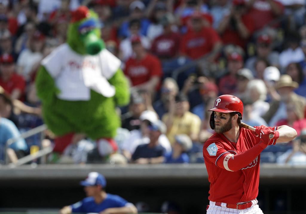 Bryce Harper正加緊找回擊球時機。(達志影像資料照)