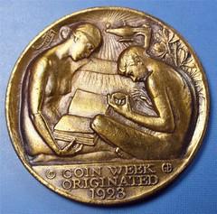 JMS Guttag Coin Week 1923 obv
