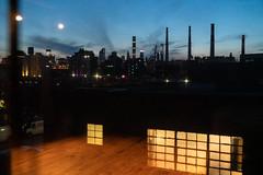 NEW YORK STREET SCENES - View from Green Space dance studio in Long Island City Toward Manhattan