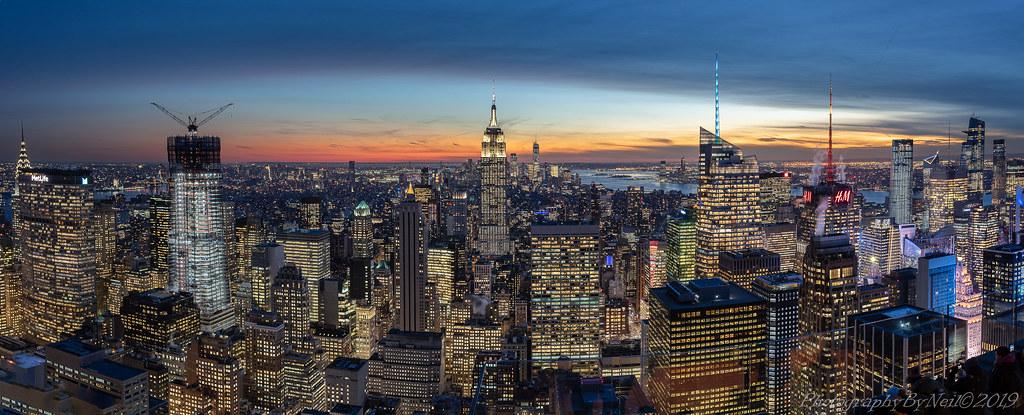 New York Sunset Sky Scape
