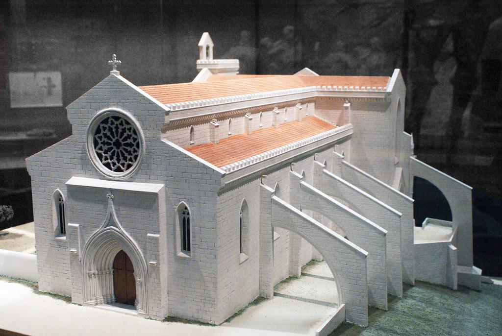 Musée : Maquette de l'église des Carmes à Lisbonne avant le tremblement de terre.