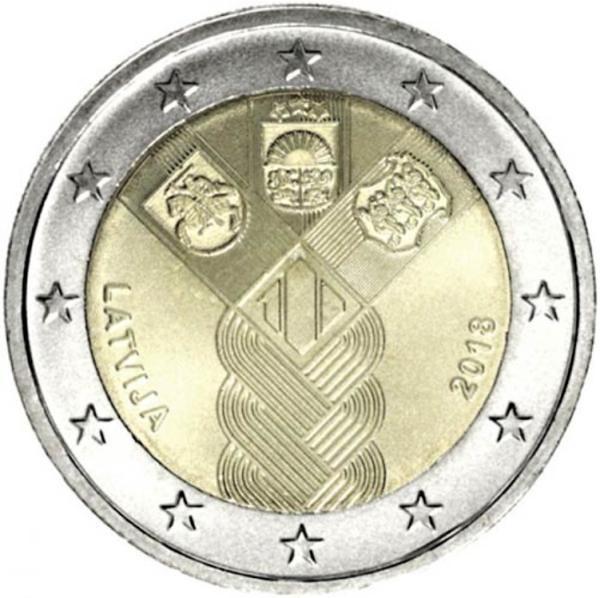 2 EURO Lotyšsko 2018 - Storočnica pobaltských štátov