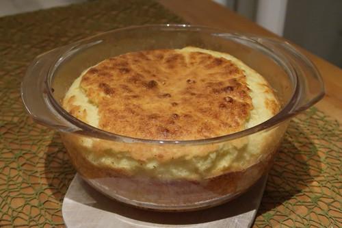 Käse-Soufflé (frisch aus dem Backofen)