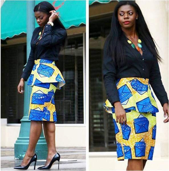 Trending Ankara Skirt & Blouse 2020 1
