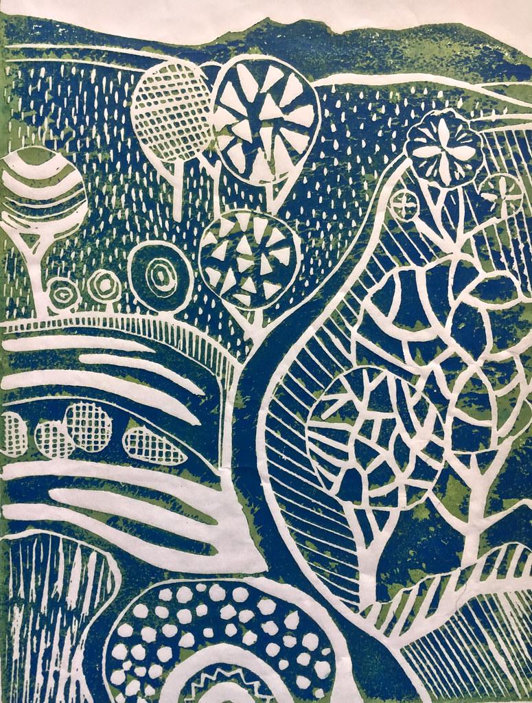 Linoprint landscape (2)