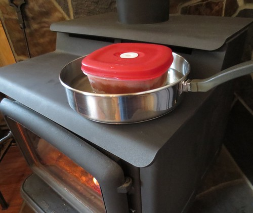 Defrosting Food on a Woodstove