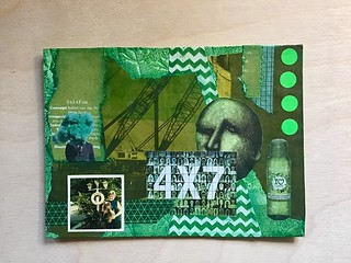Colour green handmade postcard for swapbot | by inge.smulders.1