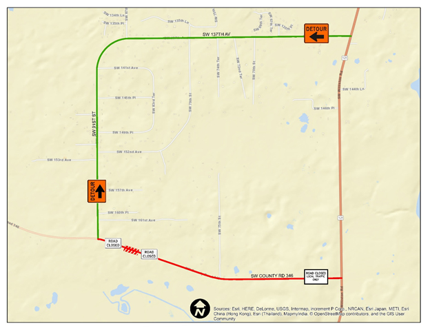 CR 346 closure map