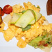 Scrambled Eggs with a Avocado based Salsa