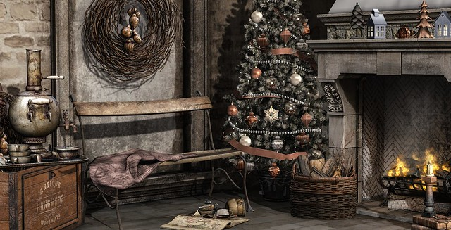 antique christmas corner