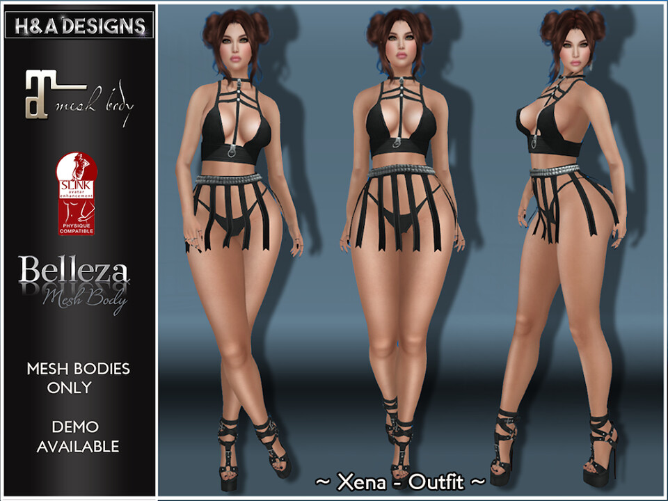 [H&A Designs]-Xena Outfit Black