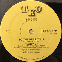 LADY B:TO THE BEAT Y'ALL(LABEL SIDE-A)