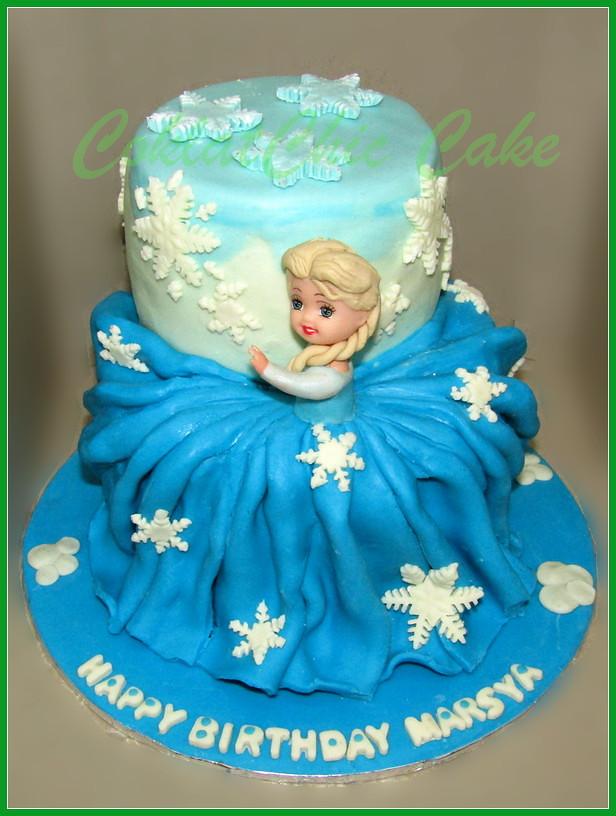 Cake disney frozen Elsa MARSYA 15/12 cm