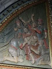 Retable de la Passion, 1678, chapelle Notre-Dame de Pitié, ancienne salle capitulaire (XIIIe), église romane St Sauveur, Figeac, Quercy, Lot, Occitanie, France - Photo of Cambes
