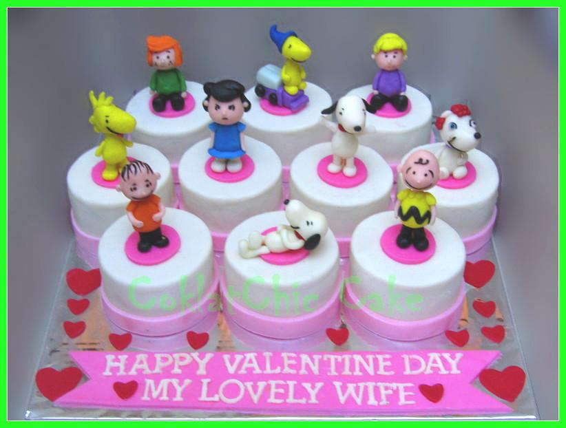 Minicake set Valentine Snoopy
