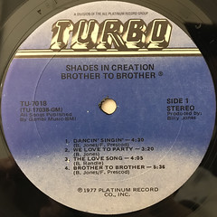 BROTHER TO BROTHER:SHADES IN CREATION(LABEL SIDE-A)