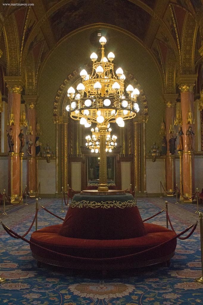 Parlamento di Budapest: Salone della vecchia Camera dei Lord