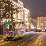 Merry Christmas | ČKD Tatra T6 #7901 | Jesenského ul. | Bratislava