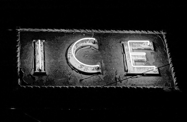 Vintage Neon Ice In B&W