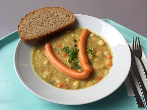 Potato stew with vienna sausages / Kartoffelsuppeneintopf mit Wiener Würstchen
