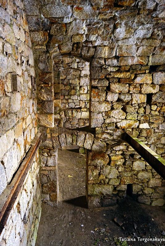 Проходы внутри основного здания Верхнего города Зворника
