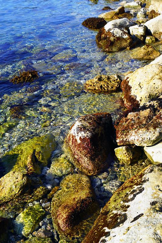 Камни на берегу и мелководье