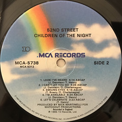 52ND STREET:CHILDREN OF THE NIGHT(LABEL SIDE-B)
