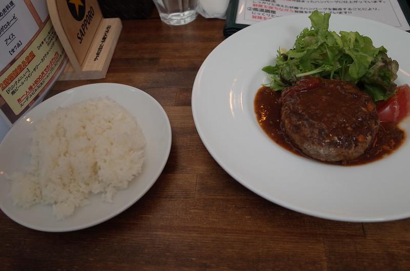 銀座一丁目肉バルバーグマンマッシュチーズ デミグラスソース