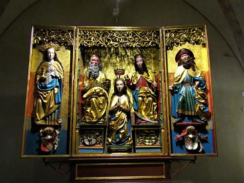 Religious artifact in Malbork Castle in Poland