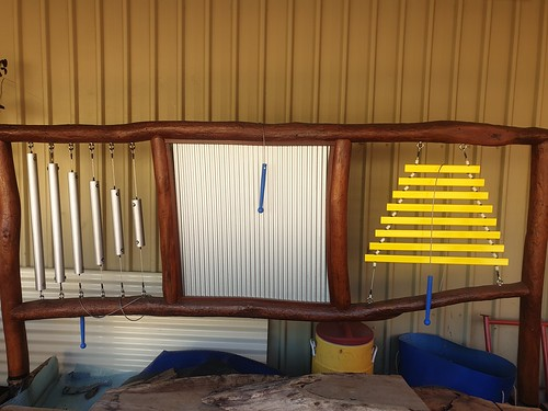 Chimes, rattleboard and xylophone music wall