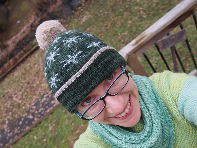 My hat has a giant pompom!