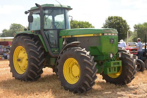 Melleray Vintage Club Vintage Combine Exhibition 2018 John Deere 4755 Tractor
