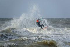 Ostend surfing - rednosed surfer