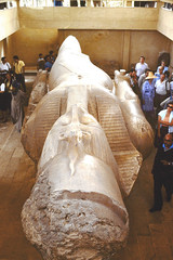 Preserved statue of Ramses II