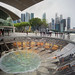 The awesome Marina Bay Sands Rain Oculus from the outside
