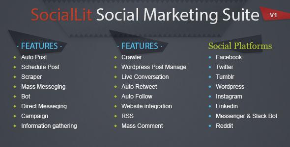 SocialLit – Social Marketing Suite