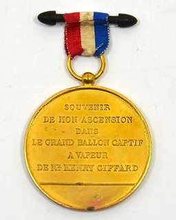 1878 Panorama De Paris Balloon Medal reverse