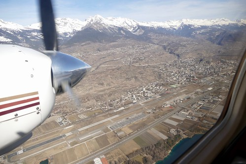 passing Sion Airport Switzerland
