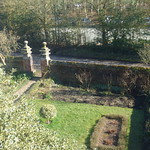 Front garden and gate at Moseley Old Hall