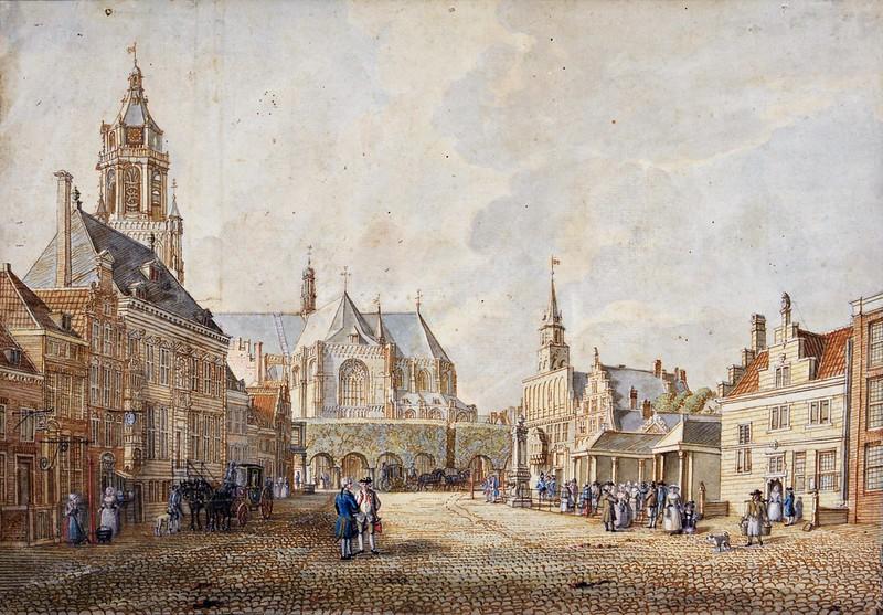 Jan de Beijer - Grote Markt in Arnhem from the south (c.1742)