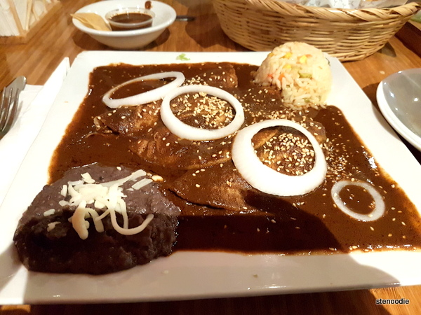 Enchiladas de Mole Poblano (chicken breast)