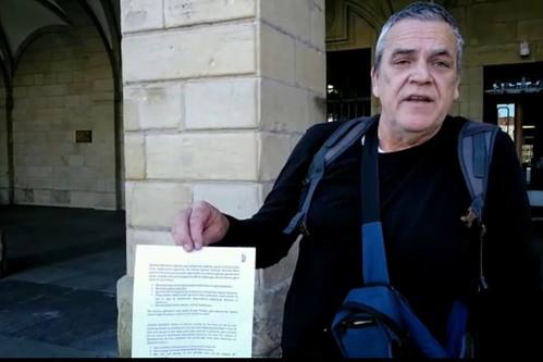 Irungo Harrera Sarea a la salida del Ayuntamiento