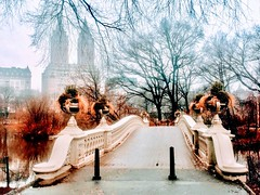 Bow Bridge Central Park Manhattan February 2019