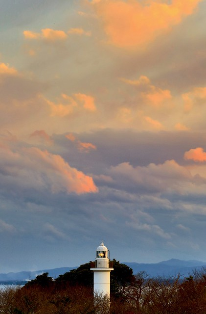 Photo:Cape-Otsu Lighthouse of the Sunset By O. Heda