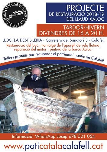 Fulletó Projecte restauració Llaüd Xaloc