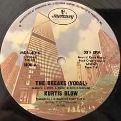 KURTIS BLOW:THE BREAKS(LABEL SIDE-A)