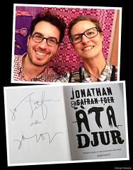 20170819_i1 Jonathan Safran Foer gave a talk in a library in Gothenburg, Sweden! :D